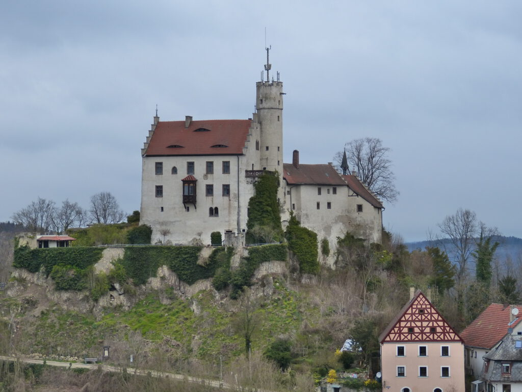 Burg Gößweinstein im April 2021